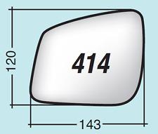 Vetro specchio retrovisore Mercedes Classe B dal 2009 al 2011 destro ASF414D