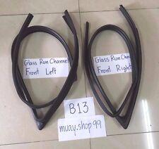 91-94 Weatherstrip Glass Run Channel Seal Set For Nissan Sentra B13 2 Doors 2PCS