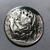 Battle of the Centaurs, The Genius of Michelangelo 1.26oz Sterling Silver Medal