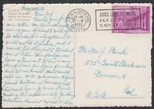VATICAN, 1950. Post Card 129, Denver, Co