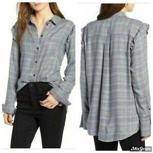 Treasure & Bond plaid shirt. Med.  CB301