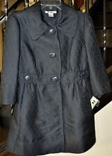 *NEW!* NYGARD $148 WOMEN'S  BLACK COAT TRENCH LINED lightweight JACKET SIZE 8