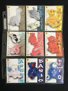 9 X Vintage Collectable Trading Cards - Beanie Kids - c2002 - Toys / Bears