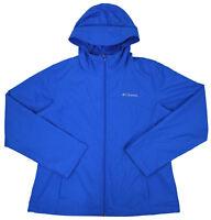 Columbia Womens Blue Zuma Stack II Windbreaker Casual Jacket Sz Large L 7224-1