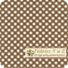 Retro Polka Dot in Bronz - Rustic Blush - Verna Mosquera Fabric Half yard