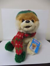 BOO THE WORLD'S CUTEST DOG WITH HOLIDAY HAT & SCARF - 23cm PLUSH - BRAND NEW
