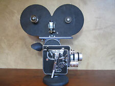 RARE 400FT MAG BOLEX H16 REFLEX 16MM MOVIE CAMERA C-MOUNT LENS SOM BERTHIOT PROP