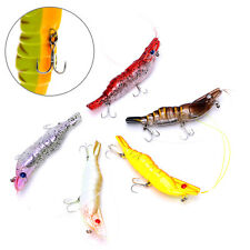Shrimp Fishing Lure 73mm Artificial Shrimp Steel Balls Sinking Hard Bait Fishing