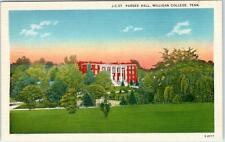 Elizabethton, Tennessee Tn Milligan College Pardee Hall c1940s Postcard