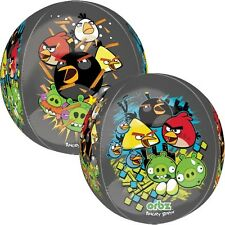 "ANGRY BIRDS BALLOON 16"" ANGRY BIRDS PARTY SUPPLIES 4 SIDED ORBZ ANAGRAM BALLOON"