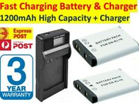 EN-EL19 ENEL19 Battery / LCD Charger For Nikon CoolPix S100 S3100 S3500 S2500