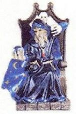 New In Box Alabastrite Merlin With Crystal Ball In Chair Statue Collectible #31