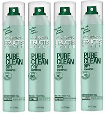 Garnier Pure Clean Dry Shampoo, 3.4 Ounce (Pack of 4)