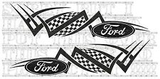 Ford RS racing chequer Tribal 2pc sidestripe stickers vinyl Transit focus fiesta