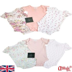Laura Ashley Baby Grows-Baby Girl 3 Pack Floral Bodysuits-Laura Ashley Baby-BNWT
