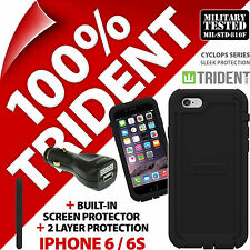 Trident Cyclops Black Protective Case Rugged Armour Cover for Apple iPhone 6