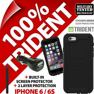 New Trident Cyclops Protective Case Rugged for Apple iPhone 6/6S+USB Car Charger