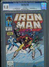 Iron Man #240 CGC 9.8 (1989) Boomerang Blizzard Blacklash Ghost Highest Grade