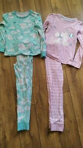 TU age 8-9 years Girls PJ pyjamas bundle winter Penguin Polar bear designs