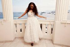 H&M GIAMBATTISTA VALLI LACE CORSET DRESS WHITE WEDDING BRIDAL UK 12 US 8 EU 40