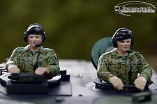 Neuheit ! Heng Long  Leopard Panzer Bundeswehr Besatzung handbemalt Resin 1:16