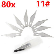 80x #11 Blades Knife Hobby Tool Cutting Crafts Engraving Carving Burin Metal DIY