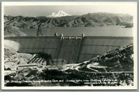 RPPC Postcard Mt Shasta Dam Lake near Redding CA Eastman's Studio Vintage
