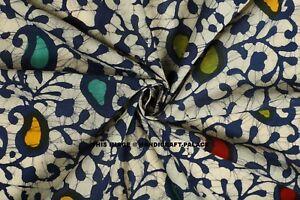 Hand Block Print Fabric Striped Indian Handmade 100% Cotton By Yard Dressmaking
