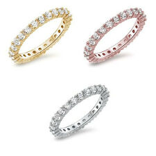 CZ Stackable Eternity Anniversary & Wedding Promise 925 Sterling Silver Ring