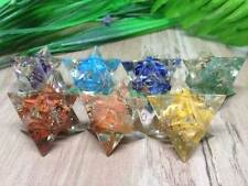 Set of 7 Chakra Orgone Merkaba Stars for Orgone Healing ~ ORG602