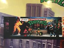 Teenage Mutant Ninja Turtles Arcade Marquee Konami Translight Header Sign Mylar