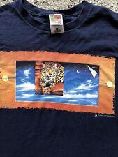 Vintage 90s 1999 Timm Etters Leopard Fantasy Mural T-Shirt Xl