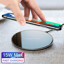 15W Qi Wireless Charger Fast Charging Pad Mat For iPhone XS 11 Pro Max X 8 Plus
