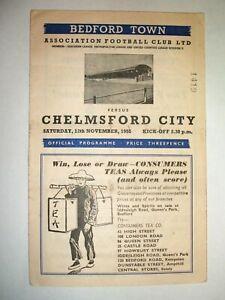 BEDFORD TOWN  V  CHELMSFORD CITY (  12TH NOVEMBER 1955)