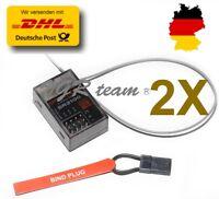2x SR3100 Empfänger Spektrum DSM2 3Ch RC Car DX3C DX3S DX4C DX4S 2,4GHz G153