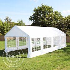 Pavillon 3x9m Partyzelt Festzelt Gartenzelt PE Zelt 240g/m² Dachplane weiß