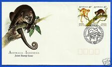 AUSTRALIA, CUSCUS MARSUPIALS, JOINT ISSUE WITH INDONESIA, FDC, YEAR 1996