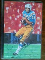 Lance Alworth signed San Diego Chargers HOF Goal Line Art Card (GLAC) 3699/5000