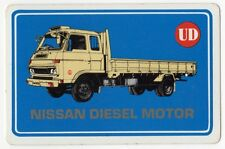 Playing Cards 1 Swap Card - Old Vintage NISSAN DIESEL MOTOR Flatbed Lorry Truck