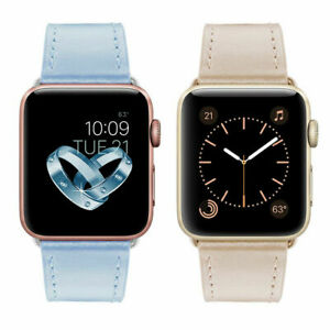 Genuine Leather Wristband Watch Band Strap For Apple iWatch Series 6 5 4 3 2 SE