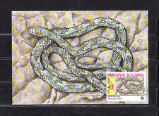 cma/ carte maximum   Bulgarie   serpents  42s      1989