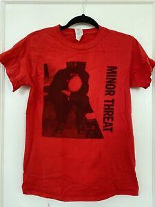 MINOR THREAT T-Shirt Red Album Ian MacKaye Small Pre Owned Fugazi Hardcore Punk