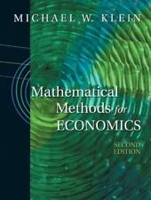 Mathematical Methods for Economics 2nd ed by Michael Klein Hardcover Ships Fast