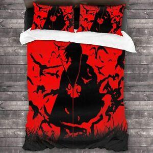 Naruto0 Itachi 3Pcs Bedding Set Duvet Cover Pillowcases Twin Full Queen King
