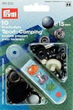 Prym 10 Nähfrei-Druckknöpfe Sport Camping 15 mm brüniert 390200