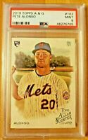 2019 Topps Allen & Ginter PSA 9 Mint RC Pete Alonso #182 Rookie Card NY Mets