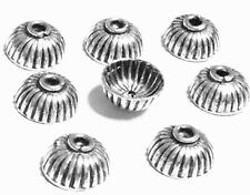 8PCS Sterling Silver Flower Fine Bead Caps- Beading Supplies
