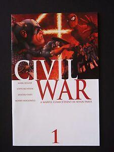 CIVIL WAR #1,#2,#3,#4,#5,#6, #7 '06 Lot of 7 High Grade Marvel Books Full Set