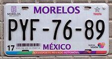 TARGA auto MESSICO Stato di MORELOS circolata e ORIGINALE Usa Canada arredo