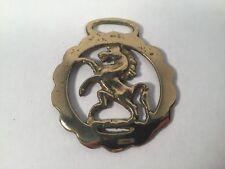 Vintage Horse Brass Medallion Tack Prancing Show
